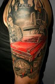 Classic Car Sleeve Tattoo Tattoos Truck Hot Rod