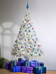 8ft Christmas Trees Artificial Ireland by White Christmas Tree With Blue Led Lights U2013 Happy Holidays