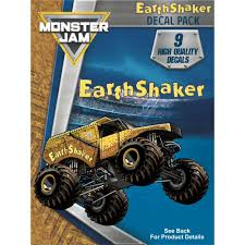 100 Monster Jam Trucks Toys EarthShaker Truck Decal Pack Stickers Decalcomania