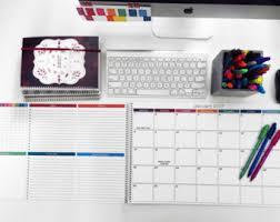 Decorative Desk Blotter Calendars by Large Desk Calendar Etsy