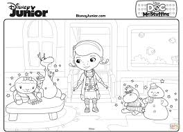 Download Coloring Pages Doc McStuffins Mcstuffins With Her Toy Friends Page