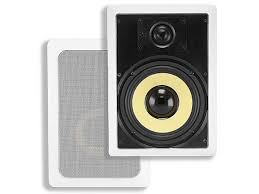 Angled In Ceiling Surround Speakers by Caliber In Ceiling Speakers 8in Fiber 2 Way Pair Monoprice Com