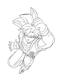Goku Super Saiyan 4 Coloring Page Free Download