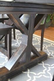 AmusingMJs Fancy X Leg Farmhouse Table