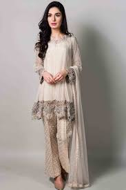 beautiful fancy short shirt with matching dupatta and pants latest