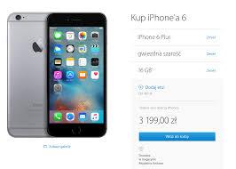 iPhone 6 i iPhone 6 Plus z niższą ceną ale oferta jest uboższa