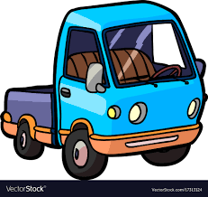 Cartoon Image Of A Small Truck Royalty Free Vector Image