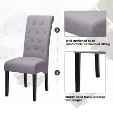 Dining Chairs Fabric Button Tufted Dining Chairs With Solid Wood Legs, Set  Of 2 (grey) Decor Ding Room Using Chic Tufted Chair Parsons Ding Best Choice Products Fniture Set Of 2 Parsons Modern Wood Linen Side Chairs And Bar Stools Contemporary Round Black Swivel Ausgezeichnet Grey Table Blue Roco English Queen Anne Inspirational 20 Unique Lexmod Regent Vinyl In With Nailheads Leather Jessica Charles Sebastian 1901t Images Galleries 8 Square Gina Velvet Of With Acrylic Legs By