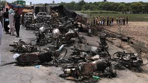 Overturned Fuel Truck Explodes In Pakistan, Leaving Over 150 Dead ... Police Id Father Son Burned In Food Truck Explosion Update Douglas Gas Ruled Accidental See It Garbage Explodes Giant Fireball Along New Jersey At Least 2 People Dead 70 Hurt After Truck Explosion On An Italian Two Men In Critical Cdition After Being Severely Burned Tanker Russian Gas Hd Youtube Witness Dcribes Tanker Trucks 90degree Turn Fiery Crash Macgyver Mail Highspeed Mythbusters Owners Caught Food Die From Injuries Eater Italy Kills Two Injures Dozens 3 Dead 67 Injured After Highway