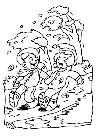 Windy Weather Coloring Pages