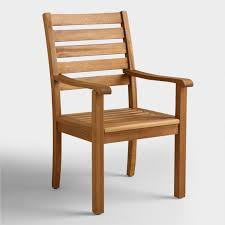 Wood Praiano Outdoor Dining Armchair