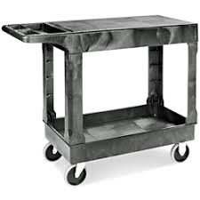 Uline Flat Shelf Utility Cart