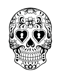 Day Sugar Skull Coloring Page Pages Book Walmart Pdf Full Size