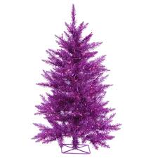 Vickerman 3 Prelit Purple Artificial Christmas Tree With 70 LED Lights