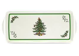 Spode Christmas Tree Gold by Pimpernel For Spode Christmas Tree Sandwich Tray Spode Uk