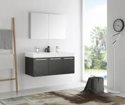 48 Inch Double Sink Vanity by Mezzo 48 Inch Black Wall Mounted Double Sink Modern Bathroom Vanity