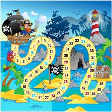 Pirate Board Game Printable Template