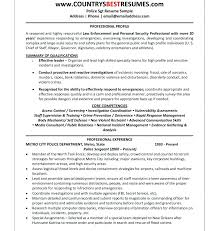 Sample Law Enforcement Resumes Attorney Resume Template Corporate