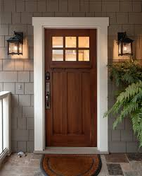 Rustic Door Stops Entry Craftsman With Front Potted Plants Hand Forged