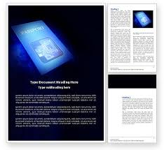 Passport Word Template 03999 Technology Science Computers PoweredTemplate