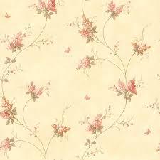 Brewster Bertrand Light Brown Satin Fern Texture Wallpaper Sample