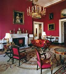 The Red Room Of White House Designed In Empire Style