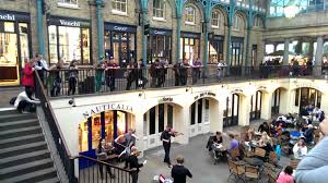 Musicians at the New Covent Garden Market London