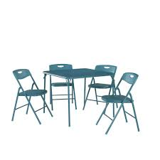 Cosco 5-Piece Teal Portable Folding Card Table Set-37557TEAE - The ... The Ohio State Buckeyes Padded Metal Folding Card Table Style Chair Amazoncom Xl Series Vinyl And Set 5pc 2 In Ultra Triple Braced Fabric 7 Best Tables 2017 Youtube 7733 2533 Vtg Retro Samsonite 4 Chairs 30 Fniture Lifetime Contemporary Costco For Indoor And Vintage Wonderful With Picture Of Foldingchairs4less Sets Using Cheap Pretty Home Find Livingroom Nice Lawn Ding Knife Wood