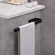 handtuchhalter bad schwarz handtuchstange edelstahl