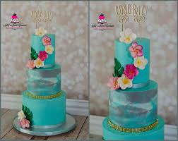 On A Cake The Used To Hawaii Topper Or Year Anniversary Hawaiian Themed Wedding Cakes