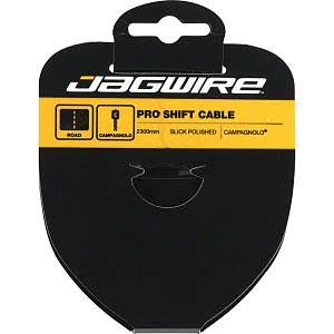 Jagwire Pro Polished Slick Stainless Derailleur Cable - Silver, 1.1mm x 2300mm