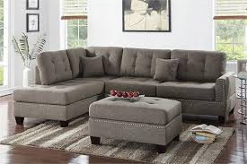 Poundex Reversible Sectional Sofa by F6504 Poundex Sectional Sofa Reversible