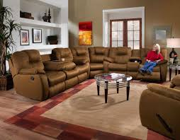 Southern Motion Reclining Furniture by Southern Motion Avalon 2 Pc Dual Reclining Console Sectional Wdrop