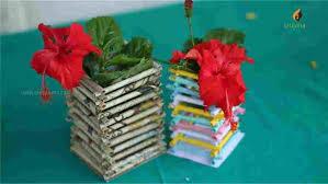 Vase Diy By Srujanatv Youtuberhyoutubecom How To Make Newspaper Crafts A Flower