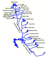 SacramentoRiver Outline Map With Three Rivers California X Image Gallery Website