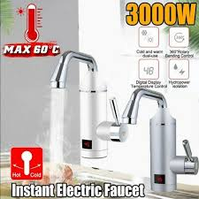 Elektrischer Wasserhahn Durchlauferhitzer Armatur Mischbatterie 3000w 220v Elektrisch Wasserhahn Mischbatterie