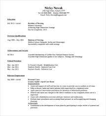 8 Registered Nurse Resumes To Download