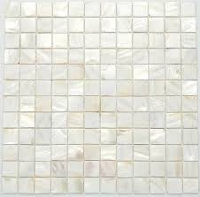 White Glass Mosaic Tiles Lovely Like Seashells Texture Rather Than Clutter