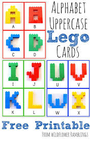 Alphabet Lego Cards Uppercase