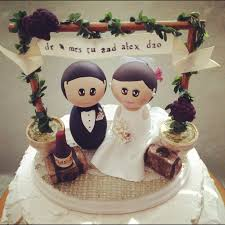 Winery Wedding Theme Cake Topper Base With Bride And Groom This Rustic Vintage