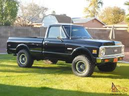 100 1971 Chevrolet Truck DROP DEAD GORGEOUS BLACK CHEVY SHORT WIDE 4X4 LOADED