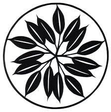 Cut Paper Design Simple Leaf Circle