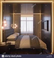 3d darstellung eines schlafzimmer interior design in einem