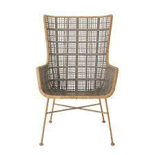 mehrfarbiger lounge stuhl aus rattan 75 x 102 x 64 cm