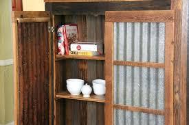 Tin Cabinet Doors Rustic Corrugated Metal Diy
