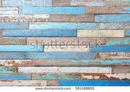 Old Wood Texture Background Vintage With Blue Color Peeling Paint