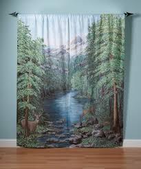Amazon Curtains Living Room by Amazon Com Saturday Knight Woodland Crossing Window Art Panel