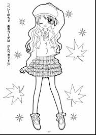 Impressive Anime Girl Coloring Pages Printable With