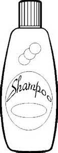 shampoo clipart black and white 5