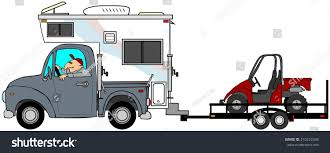 100 Pickup Truck Camper Towing Utv Stock Illustration 210222448